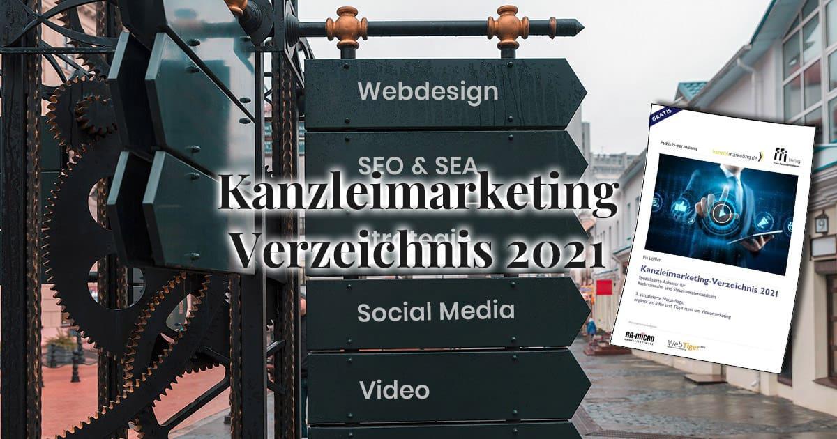 Verzeichnis von Kanzleimarketing-Anbieter 2021