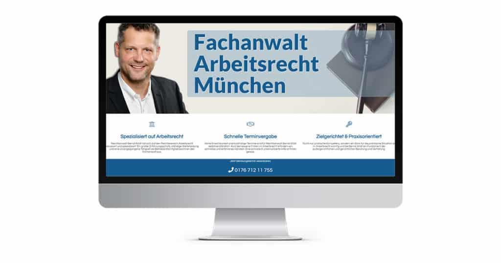 Landingpage Fachanwalt Arbeitsrecht München