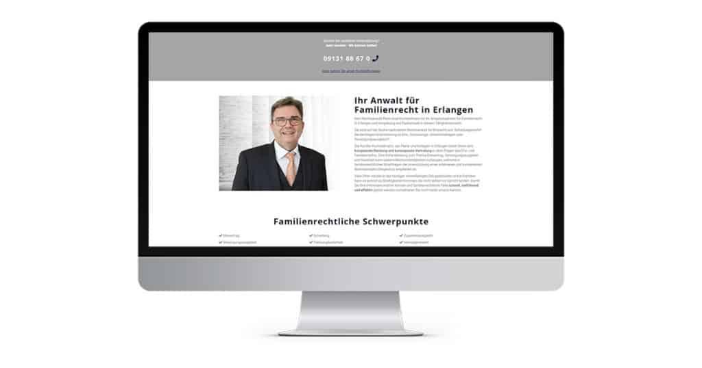 Landingpage Familienrecht Erlangen