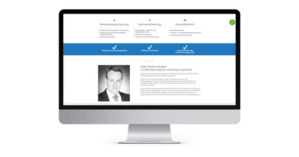 Landingpage Versicherungsrecht
