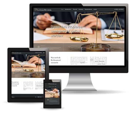 Webdesign Beispiel für Anwälte