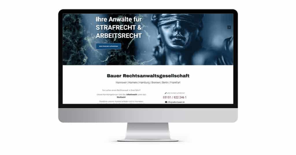 Projekt Webdesign Bauer Rechtsanwaltsgesellschaft mbH