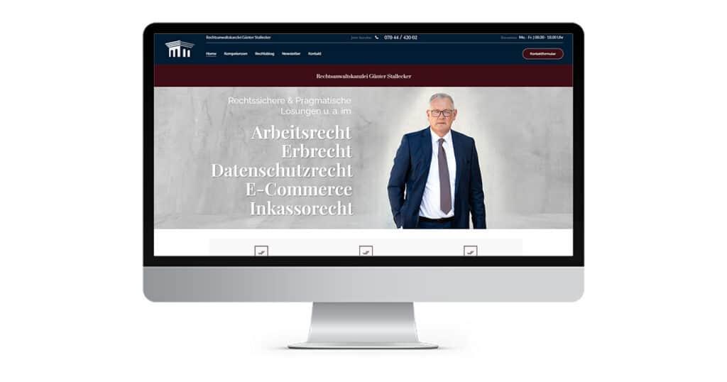 Projekt von Anwalt Advertising - Webdesign und SEO für RA Stallecker