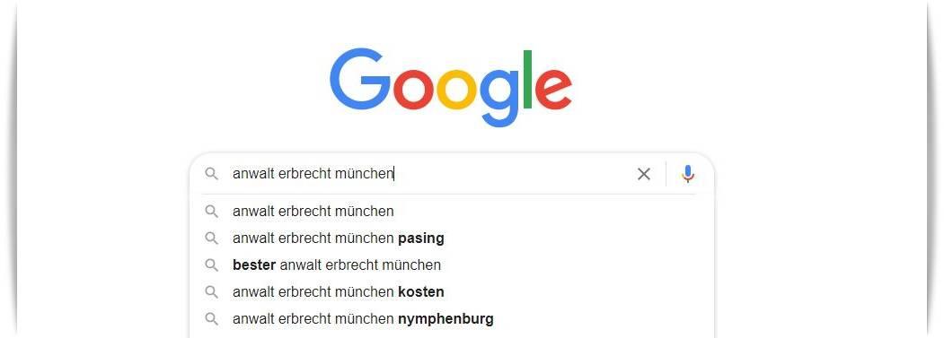 Autcomplete Funktion bei Google